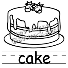 Clip Art Black And White Cake Clipart 1
