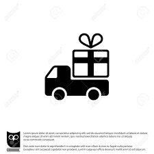 100 Icon Truck Web Line With A Gift Delivery Royalty Free