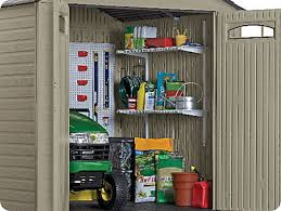 Rubbermaid Vertical Storage Shed Shelves by Spring Loaded System Rubbermaid