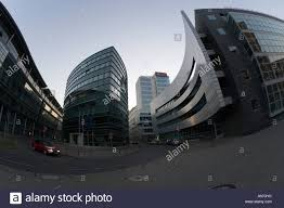modern architecture medienhafen media center centre radio tv stock