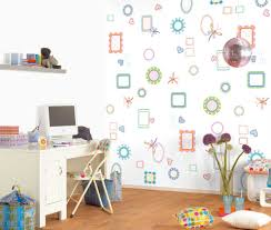 Bedroom Modern Interior For Kids Feature White Wall Paint Color And Decorative