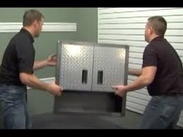 Gladiator Wall Cabinet Height by Gladiator Installation Ready To Assemble Wall Gearbox Youtube