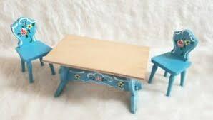 details zu kuhn tisch stühle bauernmöbel küche eßzimmer puppenstube 60 70er jahre