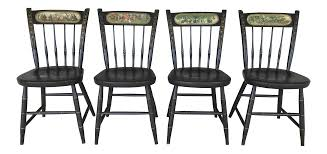 Nichols & Stone Ebonized Bicentennial Windsor Chairs - Set Of 4 ...