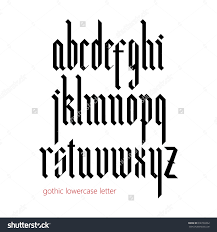 stock vector blackletter modern gothic font all lowercase letters