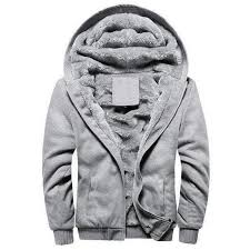 European Fashion Hooded Jacket Vintage Thick Fleece S 5XL