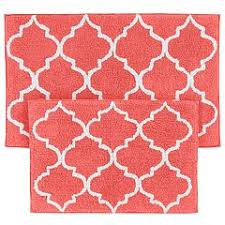 Bright Red Bathroom Rugs by Bright And Modern Coral Bath Rugs Charming Ideas Bath Rugs Mats