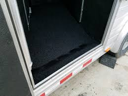 Poured Rubber Flooring For Horses by Livestock Trailers