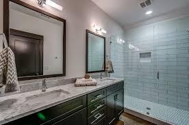 3 4 bathroom with limestone floors frameless showerdoor in