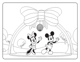 Mickey Minnie Mouse Coloring Pages 15