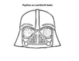 Angry Bird Pigs Pig Boss As Lord Darth Vader Is Colouring