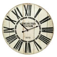 detalles de reloj de pared de ø59cm kensington vintage shabby un poco nostálgica wohnzimmeruhr loftuhr ver título original