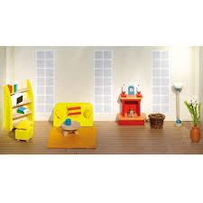 goki puppenhausmöbel wohnzimmer blau