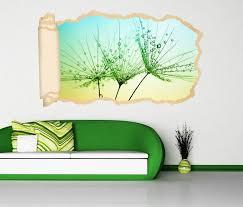 3d wandtattoo tapete pusteblume schirmchen löwenzahn blume durchbruch selbstklebend wandbild wandsticker wohnzimmer wand aufkleber 11o1768