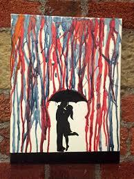 Kissing In The Rain Under Umbrella Silhouette