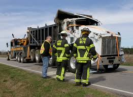 100 Dump Truck Drivers Overturns On NC 581 PHOTO GALLERY Goldsboro Daily
