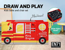 Keezi Kids Table And Chair Set Children Wooden Furniture Fire Engine ... Fascating Fire Truck Coloring Pages For Kids Learn Colors Pics How To Draw A Fire Truck For Kids Art Colours With How To Draw A Cartoon Firetruck Easy Milk Carton Station No Time Flash Cards Amvideosforyoutubeurhpinterestcomueasy Make Toddler Bed Ride On Toddlers Toy Colouring Annual Santa Comes Mt Laurel Event Set Dec 14 At Toonpeps Step By Me Time Meal Set Fire Dept Truck 3 Piece Diwasher Safe Drawing Childrens Song Nursery