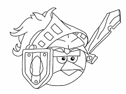 Angry Birds Coloring Pages Epic Red Bird