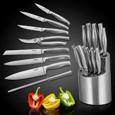 coutellerie cuisine auralum set de coutellerie 14 pièces set couteaux de cuisine en