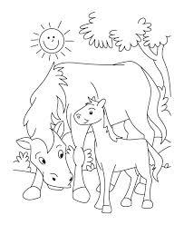 Buffalo And Goat Farm Animals Template