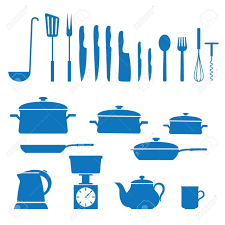 All Utensils Mixed Kitchen Clipart
