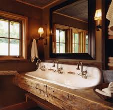 Rustic Industrial Bathroom Mirror by Rustic Bathroom Designs With Industrial Mirrors Rubbed Bronze Sink