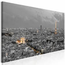 details zu leinwand bilder panorama stadt grau kunstdruck wandbilder wohnzimmer