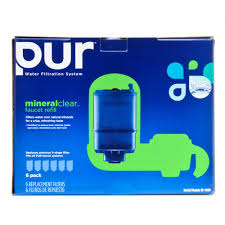 Pur Faucet Mounted Water Filter by Pur Rf 9999 6 3 Stage Mineral Clear Faucet Replacement Filters 6 Pack