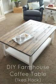 diy farmhouse coffee table ikea hack so wird der ikea lack