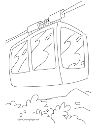 A Beautiful Cable Car Coloring Pages