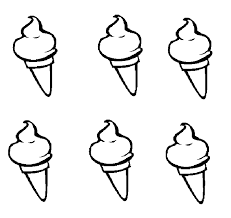 Six Ice Cream Coloring Pages