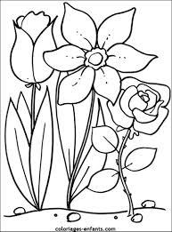 Coloriage Champs De Tulipes à Imprimer Pour Les Enfants Dessin
