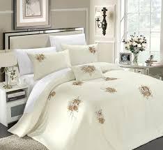 Lush Decor Serena Bedskirt by Amazon Com Chic Home Rosetta 5 Piece Comforter Set Queen Beige