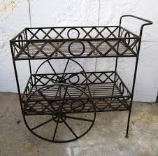 Xs And Os Wrought Iron Tea Cart