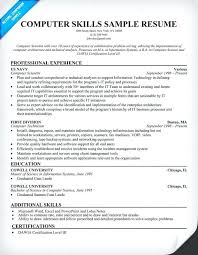 Sample Resume Format For Msc Computer Science Freshers Examples Of Resumes Skills Duties Server Inside Res