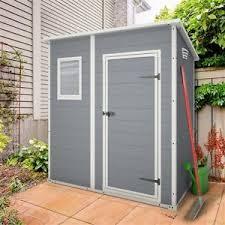 keter manor pent plastic garden shed 6ft x 4ft outdoor storage