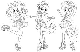 My Little Pony Coloring Pages Of Pinkie Pie Copy Equestria Girls Rainbow Rocks Dash