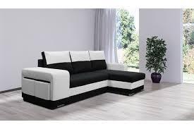 canape d angle noir et blanc canapé d angle convertible lilou design