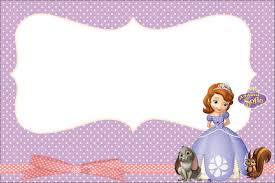 Princess Sofia The First Party Invitations Free Printables