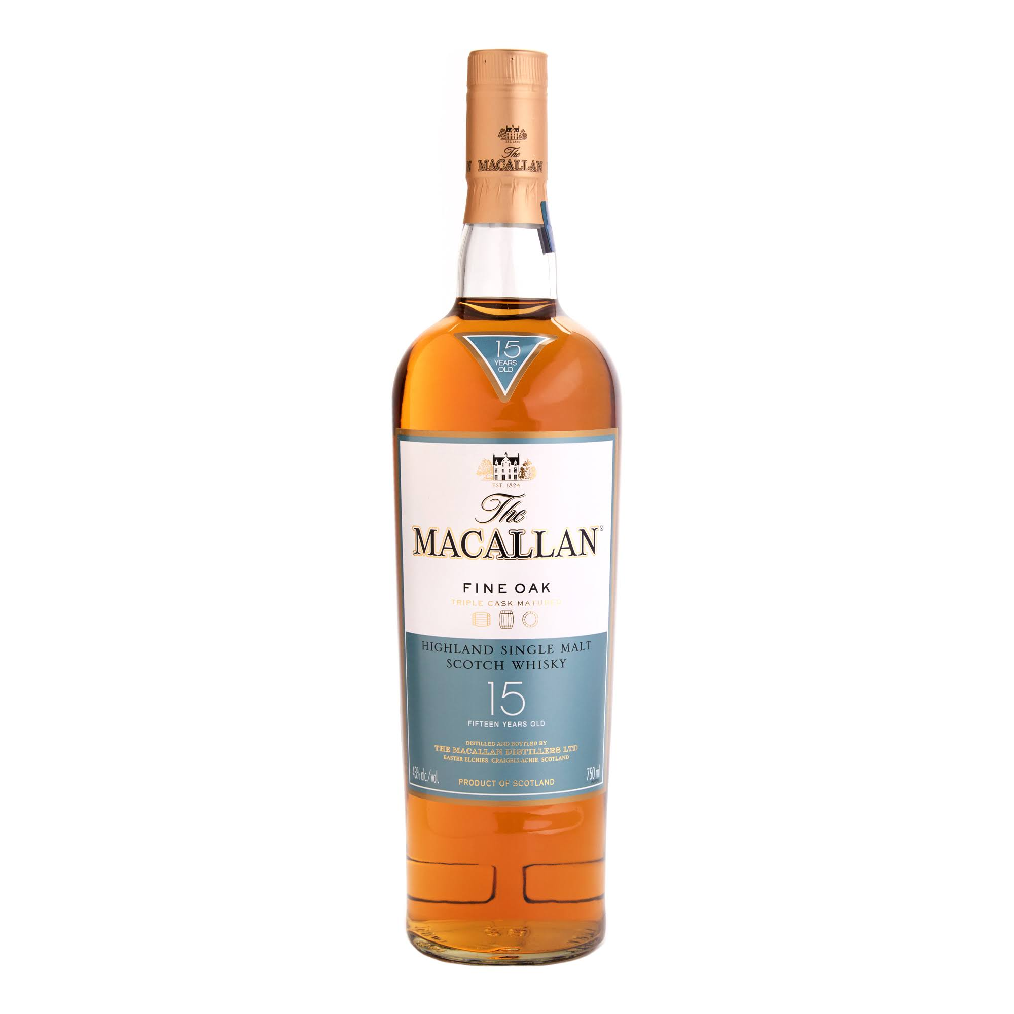 Macallan Fine Oak 15 Years Old Scotch Whiskey - 700ml