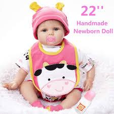 Amazoncom Silicone 22inch Reborn Baby Dolls Girl Lifelike Baby