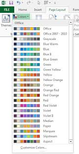 Using Colors In Excel