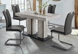 hela essgruppe set 5 tlg bestehend aus einem tisch 140 180 cm und 4 stühlen