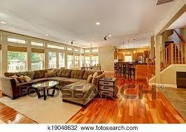 luxus wohnzimmer mit nett satz stock bild