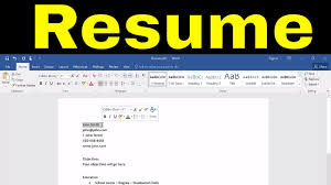 How To Create A Resume In Microsoft Word-Tutorial - YouTube How To Make A Resume With Microsoft Word 2010 Youtube To Create In Wdtutorial Make A Creative Resume In Word 46 Professional On Bio Letter Format 7 Tjfs On Microsoft Sazakmouldingsco 99 Experience Office Wwwautoalbuminfo With 3 Sample Rumes Certificate Of Conformity Template Junior An Easy