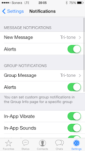 iphone How to change WhatsApp notification & SMS tone for iOS 7