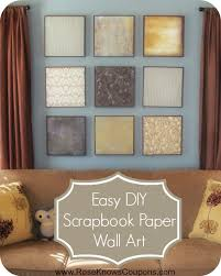 How To Make Affordable Scrapbook Paper Wall Art