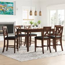 Darby Home Co Makaila 7 Piece Counter Height Dining Set ...