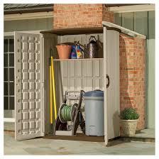 resin large vertical storage shed brown brown suncast target