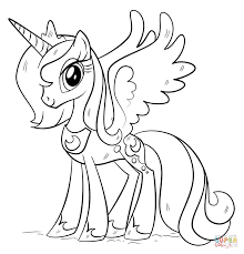 My Little Pony Coloring Pages Princess Twilight Sparkle Alicorn 2512865